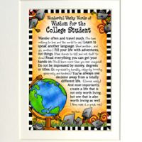 """Wonderful Wacky Words of Wisdom for the College Student – 8 x 10 Matted """"Gifty"""" Art Print"""