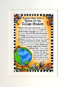 College Student art print matted