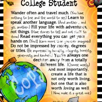 "Wonderful Wacky Words of Wisdom for the College Student – 8 x 10 Matted ""Gifty"" Art Print"