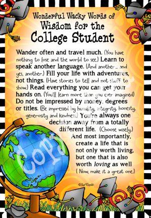College Student art print