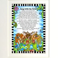 """Being with the Girls (Divas of the Deep) – 8 x 10 Matted """"Gifty"""" Art Print"""