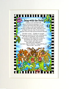 Being with the Girl 'Fins art print matted