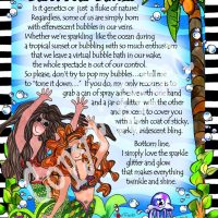 """Don't Let Anyone Burst Your Bubbles (Divas of the Deep) – 8 x 10 Matted """"Gifty"""" Art Print"""