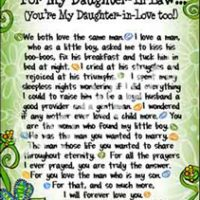 "Wonderful Wacky Words For My Daughter-In-Law (You're My Daughter-in-Love too!) – 8 x 10 Matted ""Gifty"" Art Print"