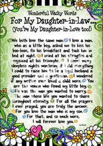 Wisdom for my daughter in law art print