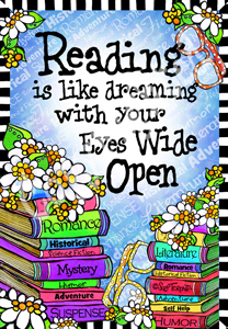 Reading with eyes wide open print