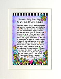 Best Friends art print matted