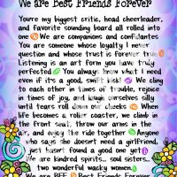 "Wonderful Wacky Words… We are Best Friends Forever – 8 x 10 Matted ""Gifty"" Art Print"