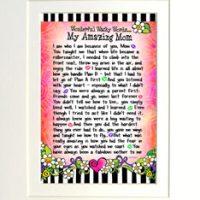 "Wonderful Wacky Words… My Amazing Mom – 8 x 10 Matted ""Gifty"" Art Print"