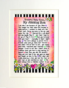 Amazing mom art print matted