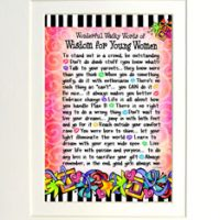"Wonderful Wacky Words of Wisdom for Young Women – 8 x 10 Matted ""Gifty"" Art Print"