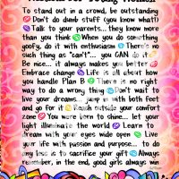"""Wonderful Wacky Words of Wisdom for Young Women – 8 x 10 Matted """"Gifty"""" Art Print"""
