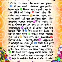 "Wonderful Wacky Words For You on Your Birthday – 8 x 10 Matted ""Gifty"" Art Print"