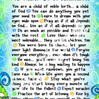 "Wonderful Wacky Words God Wants Us to Remember – 8 x 10 Matted ""Gifty"" Art Print"