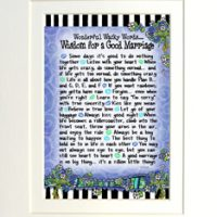 "Wonderful Wacky Words… Wisdom for a Good Marriage – 8 x 10 Matted ""Gifty"" Art Print"