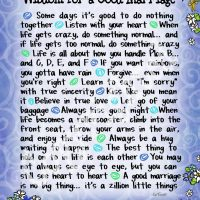 """Wonderful Wacky Words… Wisdom for a Good Marriage – 8 x 10 Matted """"Gifty"""" Art Print"""
