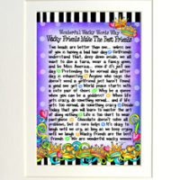 "Wonderful Wacky Words Why Wacky Friends Make the Best Friends – 8 x 10 Matted ""Gifty"" Art Print"