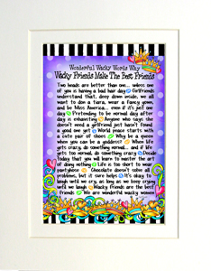 Wacky Friends art print matted
