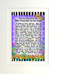Wacky Friends art print matted