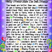 "Wonderful Wacky Words Why Wacky Friends Make the Best Friends – 8 x 10 Matted ""Gifty"" Art Print"
