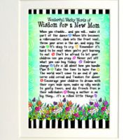 "Wonderful Wacky Words of Wisdom for a New Mom – 8 x 10 Mated ""Gifty"" Art Print"