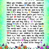 """Wonderful Wacky Words of Wisdom for a New Mom – 8 x 10 Mated """"Gifty"""" Art Print"""