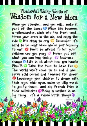 Wisdom for New Mom art print