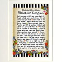 """Wonderful Wacky Words of Wisdom for Young Men – 8 x 10 Matted """"Gifty"""" Art Print"""