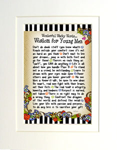 Wisdom for Young Men art print matted