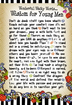 Wisdom for Young Men art print
