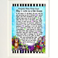 "Wonderful Wacky Words About Why I Live in a Cat House – 8 x 10 Matted ""Gifty"" Art Print"