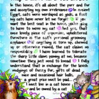 """Wonderful Wacky Words About Why I Live in a Cat House – 8 x 10 Matted """"Gifty"""" Art Print"""