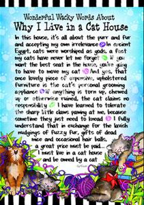 Living in a Cat house art print