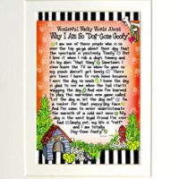 """Wonderful Wacky Words About Why I Am So """"Dog-Gone Goofy"""" – 8 x 10 Matted """"Gifty"""" Art Print"""