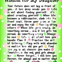 "Wonderful Wacky Words of Wisdom for My Daughter – 8 x 10 Matted ""Gifty"" Art Print"