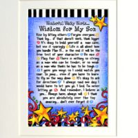 "Wonderful Wacky Words… Wisdom for My Son – 8 x 10 Matted ""Gifty"" Art Print"