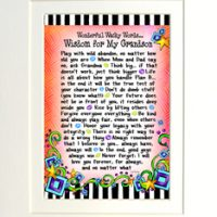 "Wonderful Wacky Words… Wisdom for My Grandson – 8 x 10 Matted ""Gifty"" Art Print"