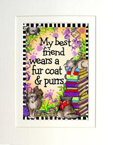 My Best Friend CAT Print matted