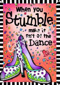 Stumble art print