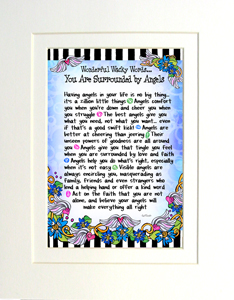 Surrounded by Angels art print matted