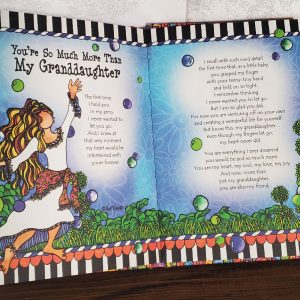 Granddaughter hardcover book - inside pages