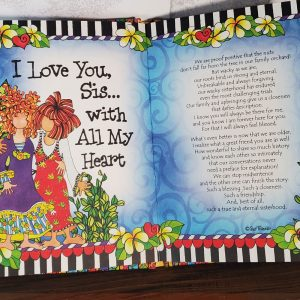 Sisters hardcover book - inside