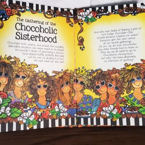 Chocolate hardcover book - inside pages