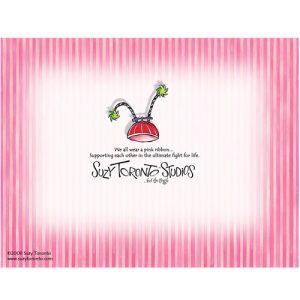 Pink Ribbon - Note Card - BACK