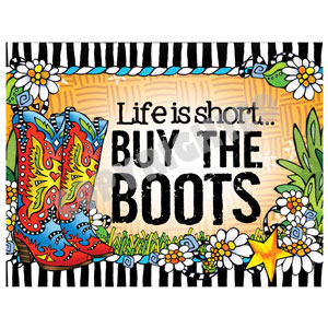 buy the boots - note cards