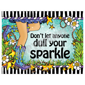 sparkle boots - note cards