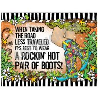 When Taking the Road less Traveled It's Best to Wear a Rockin' Hot Pair of Boots! – (TingleBoots) Note Cards