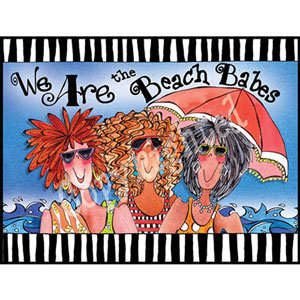 Beach Babes - note card pack