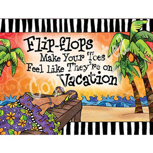 Vacation toes - note card pack