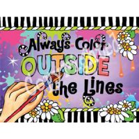 Always Color Outside the Lines – Note Cards